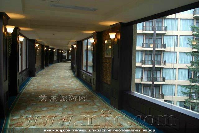 美景旅游网图片库-天堂酒店住宿楼房间走廊