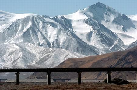 组图:沿青藏铁路看雪域风光