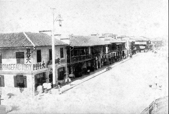 南京路和广西路之间