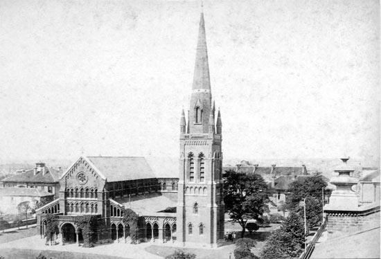 19世纪trinity教堂
