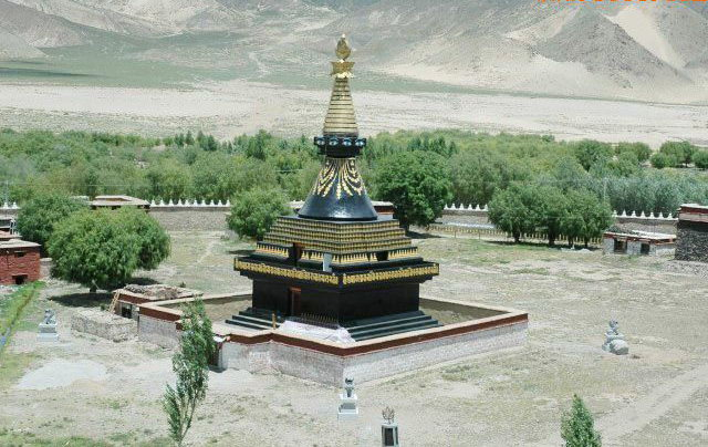 图片:西藏山南-桑耶寺四塔之 黑塔