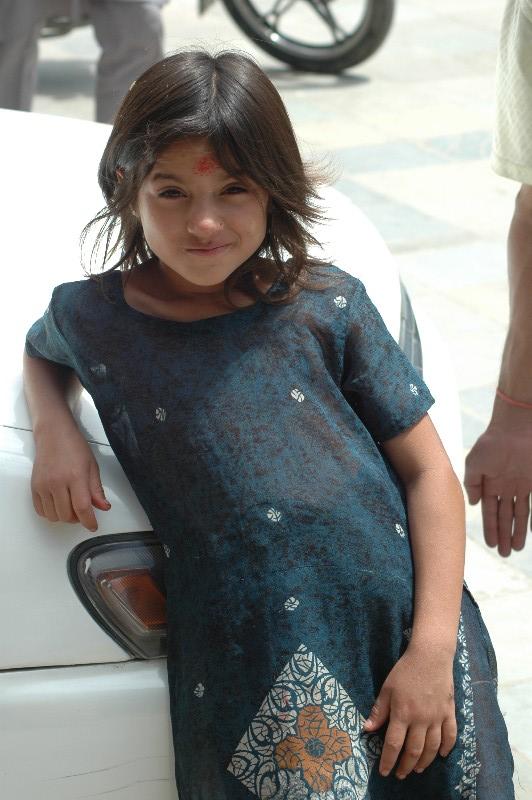 喜马拉雅风情-加德满都可爱的小女生