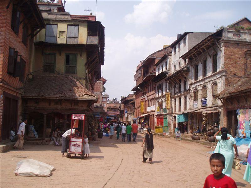 喜马拉雅风情-加德满都老城区