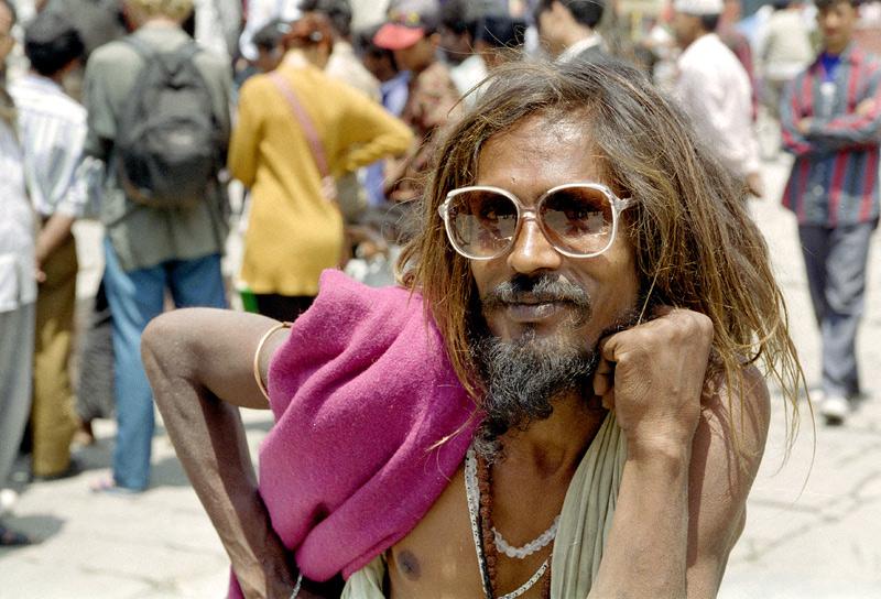 图片:喜马拉雅风情-加德满都 喜欢摆POSE苦行僧