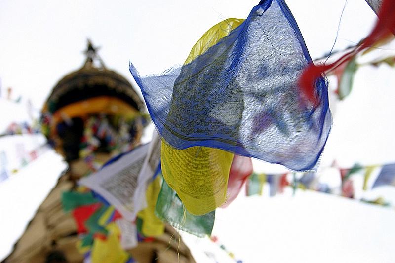 图片:喜马拉雅风情-加德满都猴庙经幡