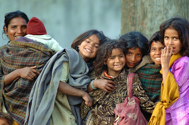 图片:喜马拉雅风情-加德满都 开心的一家人