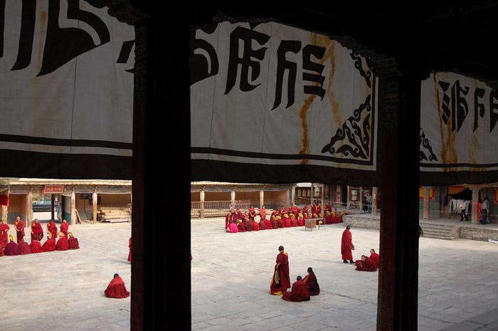 图片:青海西宁-塔尔寺喇嘛辨经