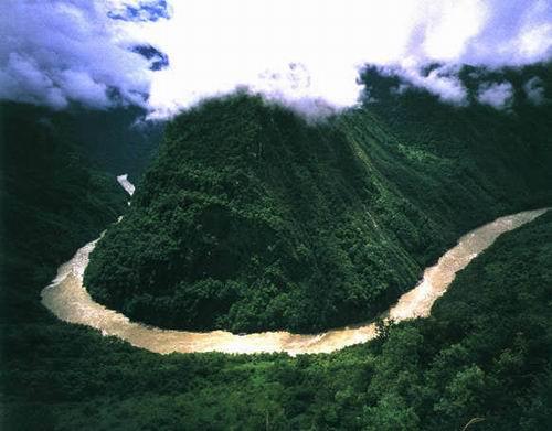 雅鲁藏布江大峡谷大拐弯