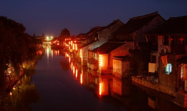 浙江古镇:西塘旅游风光