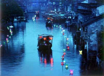 中国古镇:浙江西塘风光