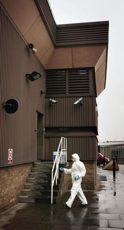 图文:英国肯特郡汤布里奇镇公司金库遭抢