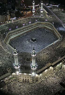 图片 一年一度麦加朝觐 场面壮观 沙特麦加大清真寺