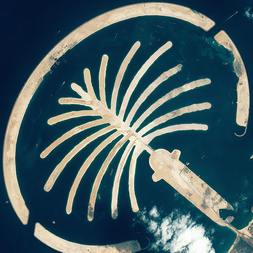 """迪拜棕榈岛-被誉为""""世界第八大奇迹"""""""