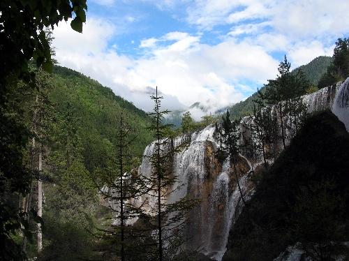 九寨沟图片-美丽的瀑布