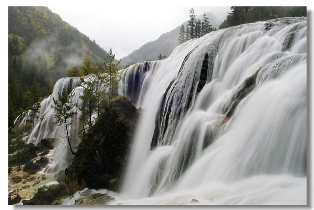 九寨沟瀑布图片