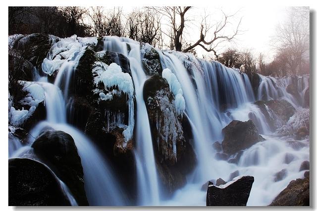 九寨沟冬天风光图片