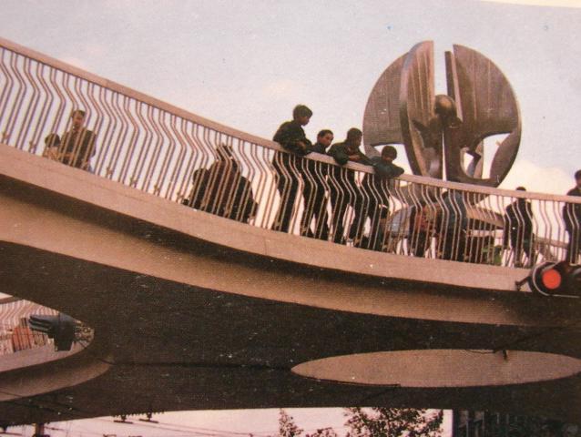成都老照片-未来号天桥