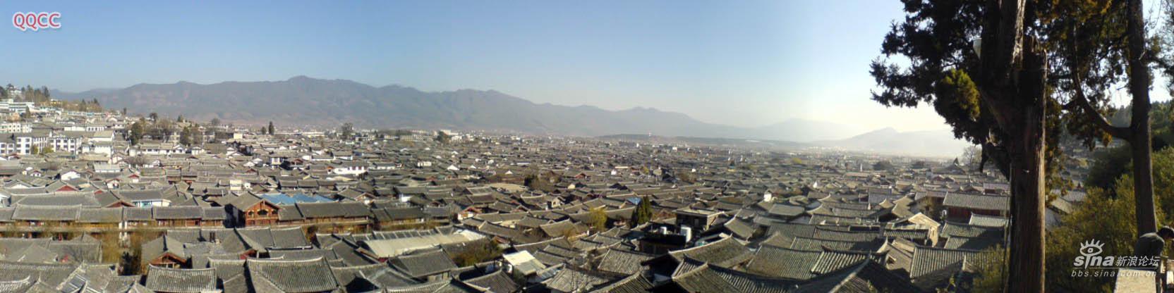 图片:丽江古城全景图