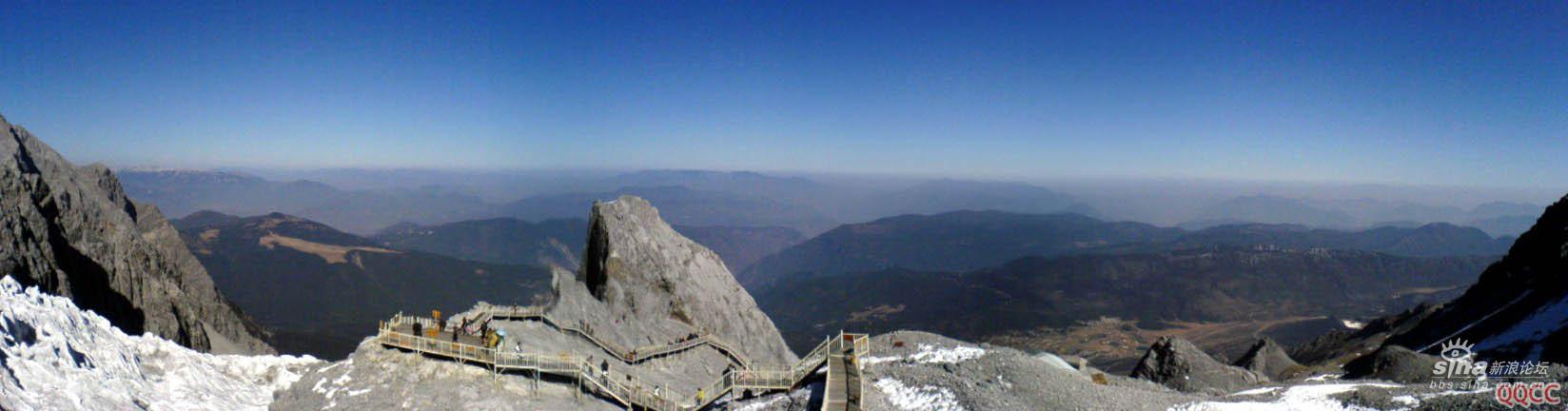 图片:丽江玉龙雪山顶远眺全景图