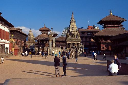 尼泊尔风光图片:巴德岗杜巴广场