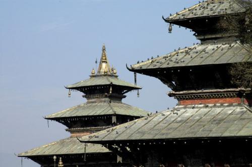 尼泊尔风光图片:塔莱珠女神庙