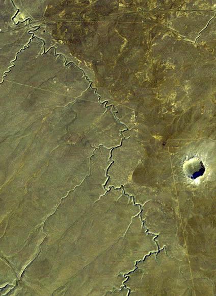 位于美国的Barringer陨石坑图片