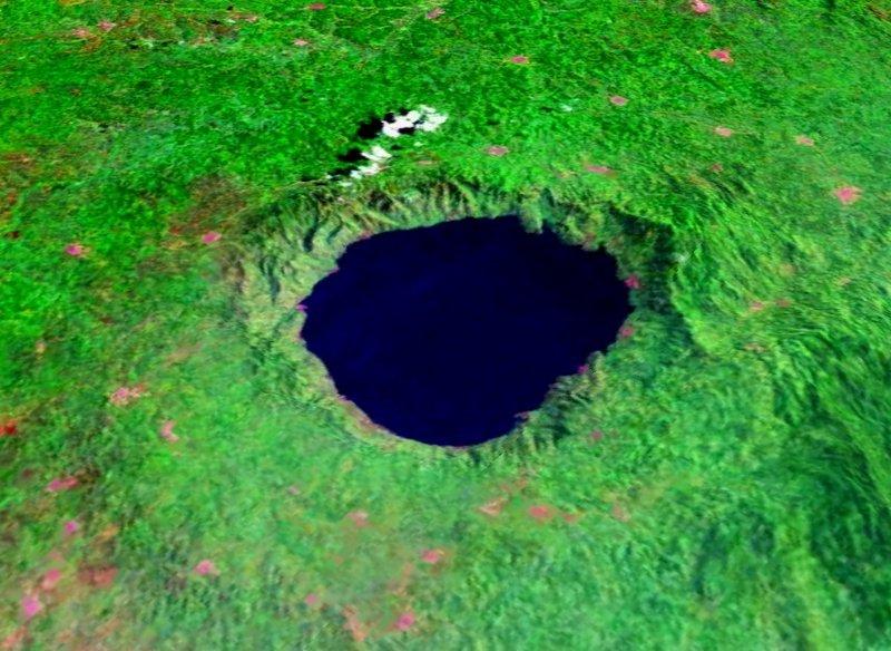 图片:位于加纳的Bosomtwe 陨石坑