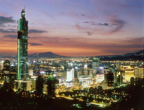 台湾旅游景点图片:台北101大楼