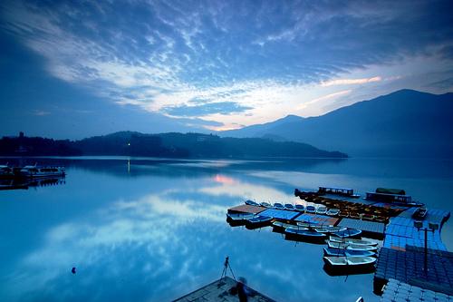 台湾旅游景点图片:南投日月潭