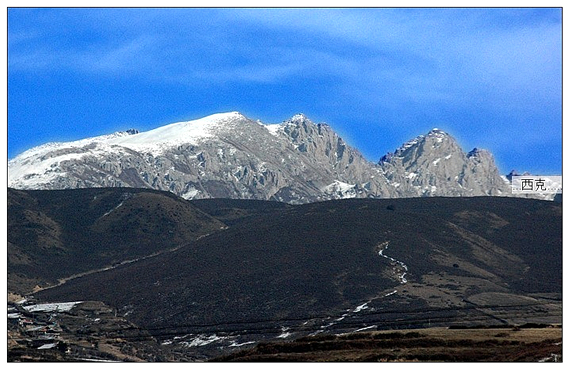 九寨沟冬景图片