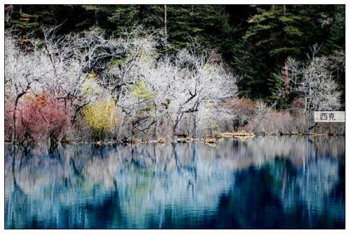四川九寨沟冬季风光图片