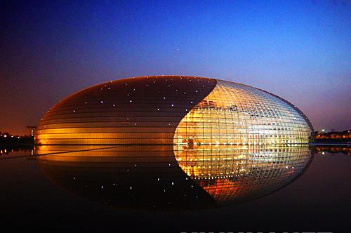中国国家大剧院夜景
