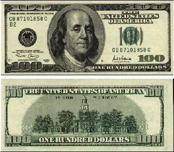 100美元图片