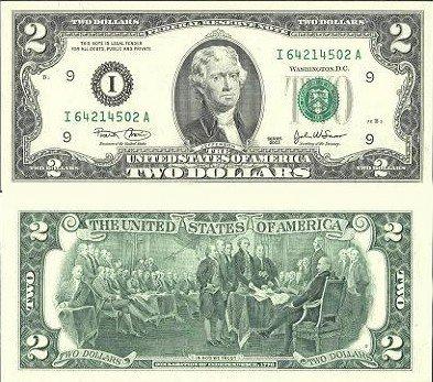 2美元图片