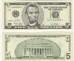 5美元图片