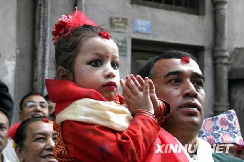 2008年新的尼泊尔活女神-库玛丽