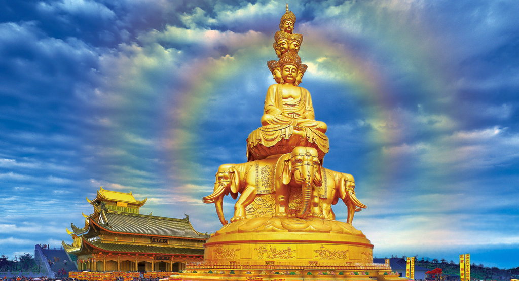 中国四大佛教圣地-峨眉山十方普贤佛像