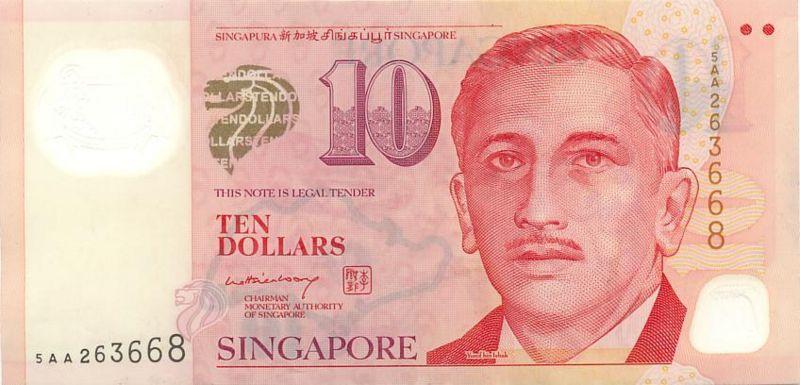 新加坡元图片-10元-2005年版