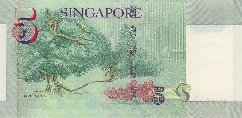 新加坡元图片-5元-1999年版
