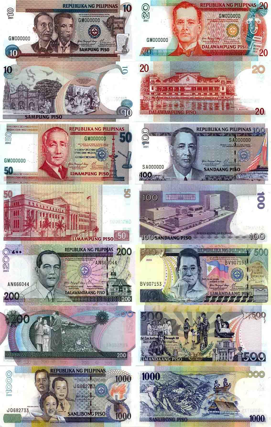 菲律宾货币-菲律宾比索图片