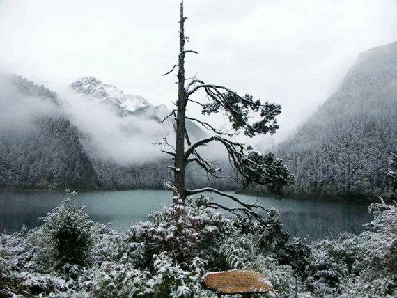 九寨沟冬季风景图片