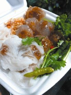 泰国小吃图片-碎肉水晶米球