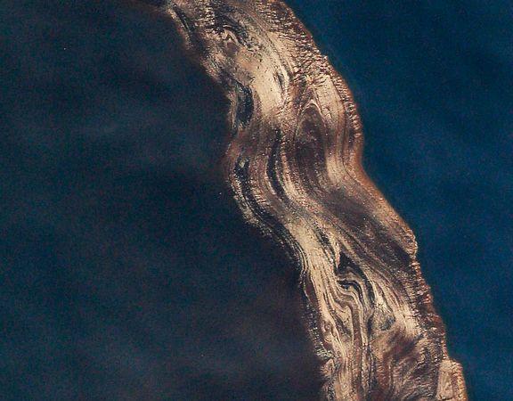 墨西哥湾漏油污染规模鸟瞰图