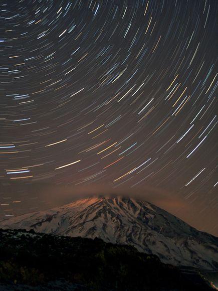 伊朗达玛万德峰上空星光闪耀