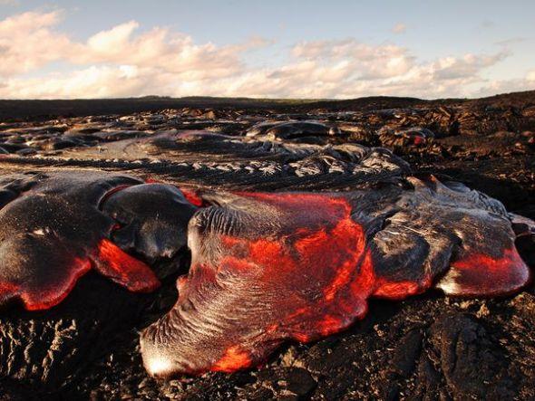 美国夏威夷绳状熔岩