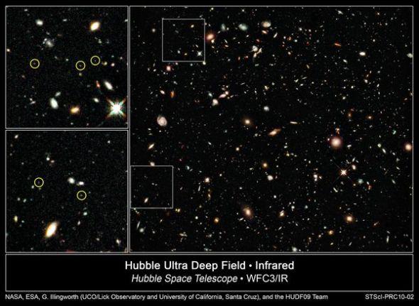 图片:美国国家地理2010年十大太空发现-哈勃发现最早期星系