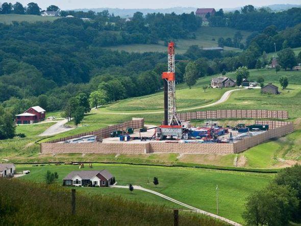 宾夕法尼亚州页岩下钻探天然气