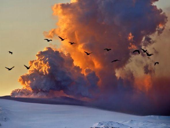 冰岛火山灰云