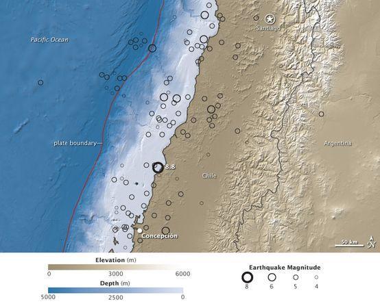 智利地震改变地轴令时长缩短