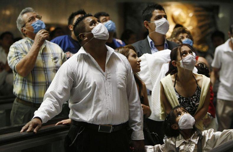 H1N1口罩遮住了全世界的脸庞